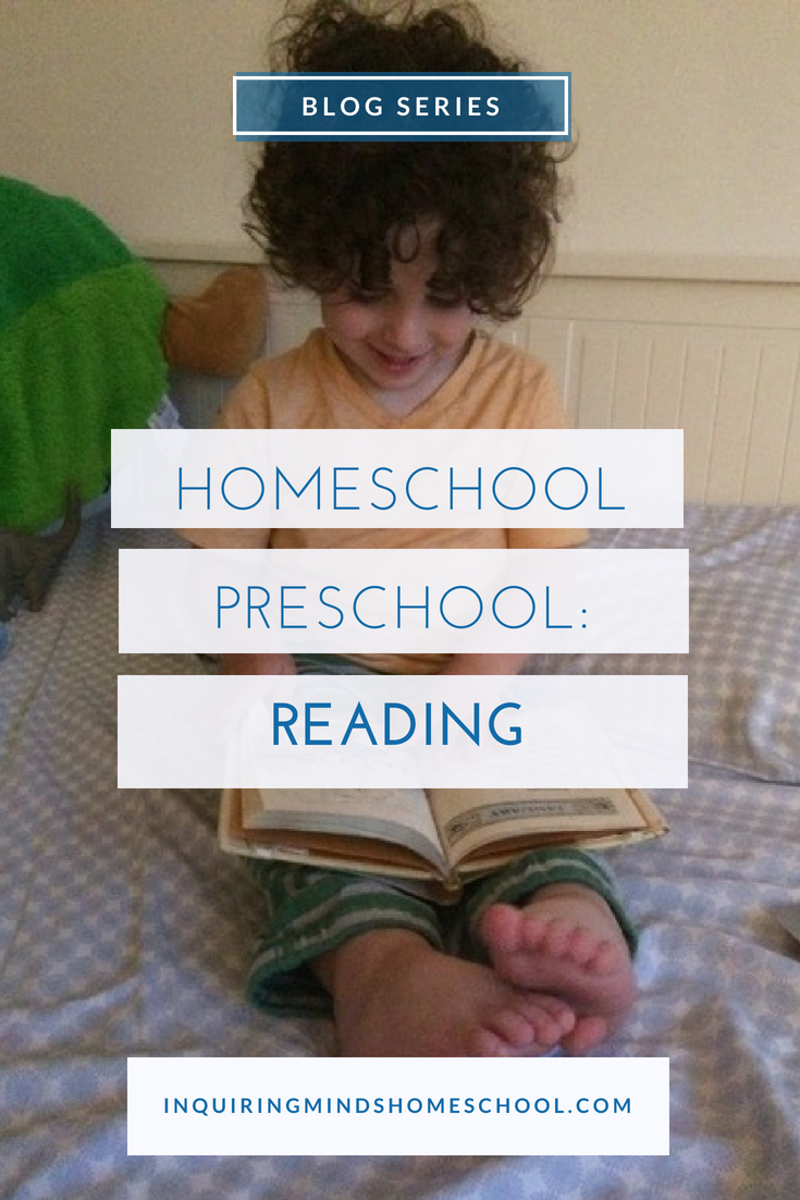 Homeschool Preschool Reading