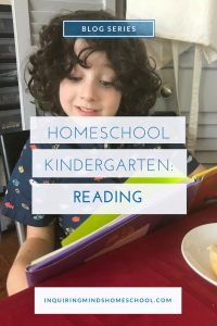 Homeschool Kindergarten Reading