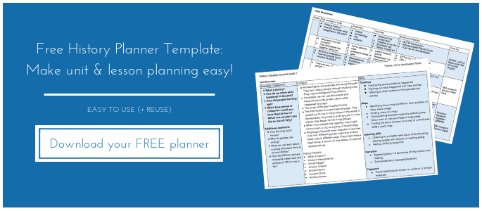 Free History Planner with Essential Questions