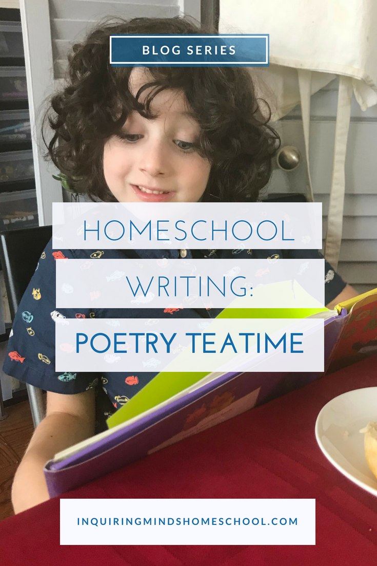 Homeschool writing poetry teatime