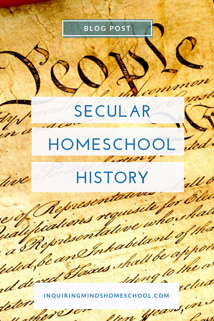 secular homeschool history