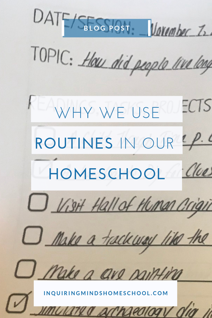 homeschool routines