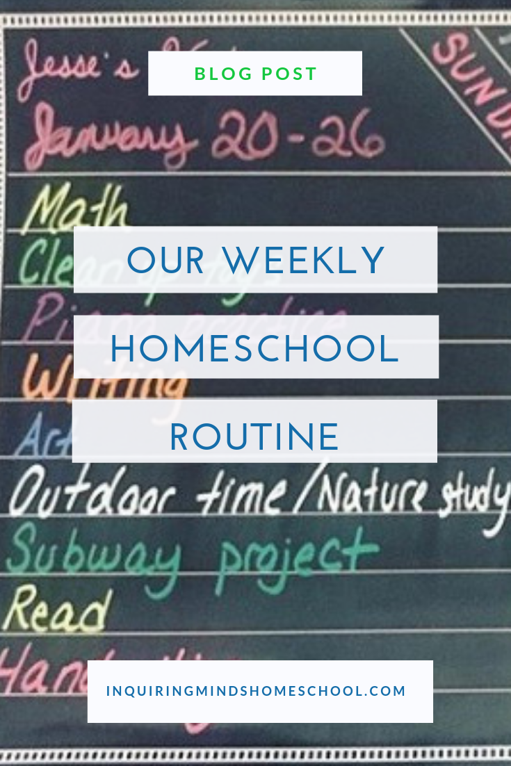 Our Weekly Homeschool Routine